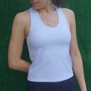 Tops - White racer back shirt workout top